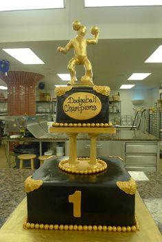 Dodgeball Trophy Cake
