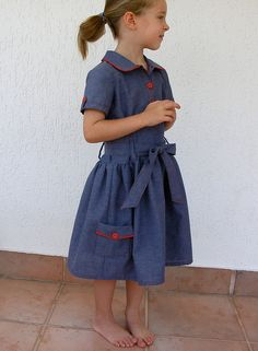 Jump Rope Dress : an Oliver+S pattern School Dresses, Girls Dresses, Toddler Outfits, Kids Outfits, Zen, Winter Outfits For Girls, Sewing For Kids, Sewing Ideas, Fashion Moda