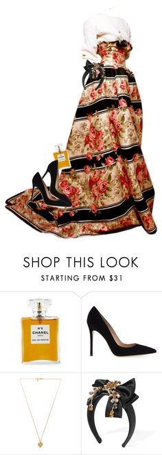 """""""Back Then."""" by quiche ❤ liked on Polyvore featuring Chanel, Gianvito Rossi, Vanessa Mooney and Dolce&Gabbana"""