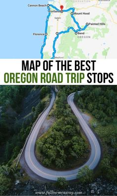 The Ultimate Oregon Road Trip Itinerary You Should Steal Map Of The Best Oregon Road Trip Stops Oregon Travel, Oregon Coast Roadtrip, Oregon Vacation, Oregon Road Trip, West Coast Road Trip, Vacation Spots, Travel Usa, Travel Tips, Travel Ideas