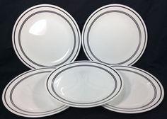 Corelle Classic Cafe Black Dinner Plates Replacement Break and Chip Resistant #CorelleVitrelle
