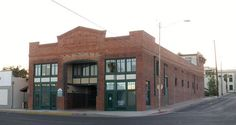 Old brick building built in 1917 was the Gancolfo Theater later became VFW building. Yuma AZ