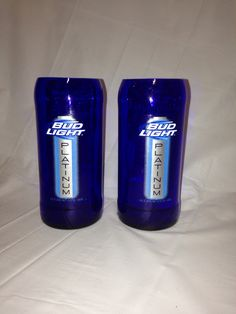 Bud Light Platinum Beer Bottle Glasses on Etsy, $10.00 Beer Bottle Glasses, Bud Light, Craft Sale, Projects To Try, Inspire, Artists, Crafty, Unique, How To Make