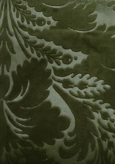 Jean Bart Velvet Damask  Embossed forest green velvet damask. Suitable For Contract Curtains and Upholstery.