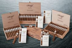 """Davidoff Millennium Series Cigars ~ The experience accumulated over the years has provided Davidoff with the know-how required to produce a new type of cigar made from a balanced blend of stronger tobaccos. With the Millennium series, Davidoff sets a new reference - """"The Davidoff Experience."""""""