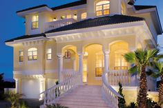 Mediterranean Style House Plan - 3 Beds 3.5 Baths 2374 Sq/Ft Plan #930-16 Exterior - Front Elevation - Houseplans.com