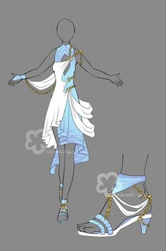 Fantasy Priestess Outfit by Nahemii-san on DeviantArt Would wear in a heart beat Dress Drawing, Drawing Clothes, Fashion Design Drawings, Fashion Sketches, Fantasy Dress, Fantasy Art, Fantasy Clothes, Fantasy Outfits, Fantasy Costumes
