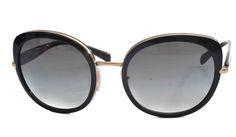 Prada SPR52O Black & Gold Women's Sunglasses