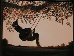 """""""The Tire Swing,"""" Painting by Shirley Reade"""