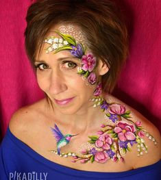 "40 Likes, 9 Comments - Pam Kinneberg (@pikadillyfacepainting) on Instagram: ""Happy Mothers Day! #faceart #facepaint #facepainting #faceandbodyart #inspirationtopaint…"""