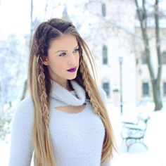 Makeup lover | 26 years old ♋️ | Romania based | ☕️ coffee & pijama addict |  YouTuber |  karindragos@gmail.com | Check out my videos & SUBSCRIBE Karin Dragos, Winter Wonderland, Youtubers, Braided Hairstyles, Blonde Hair, Braids, Hair Beauty, Long Hair Styles, Romania
