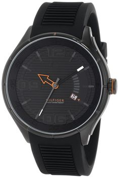 Tommy Hilfiger  Men's 1790803 Sport Black IP Black Silicon  Watch ** Read more reviews of the watch by visiting the link on the image.