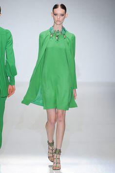Grass green ensemble - at Gucci #summer2013 #MFW #fashion