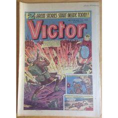 Victor #1120 Comic UK August 1982 War Football Sport Action Adventure