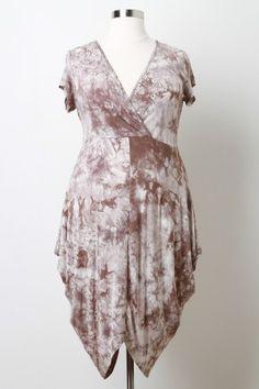 Marble Tie Dye Surplice Dress