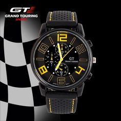 Pánské sportovní hodinky Grand Touring GT – ŽLUTÉ Na tento produkt se vztahuje nejen zajímavá sleva, ale také poštovné zdarma! Využij této výhodné nabídky a ušetři na poštovném, stejně jako to udělalo již velké množství …