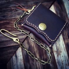 Horween Leather Slim Wallet Card Holder by CultClassicLeather on Etsy