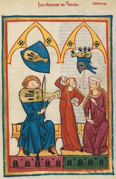 Manesse Codex - (1300 - 1340) Herr Reinmar der Fiedler