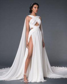 21 Best Of Greek Wedding Dresses For Glamorous Bride ❤ greek wedding dresses simple x cross neckline romantic paolo_sebastian #weddingforward #wedding #bride #weddingoutfit #bridaloutfit #weddinggown