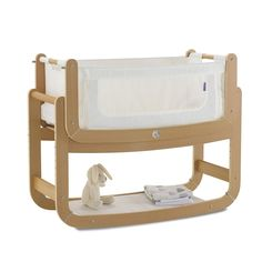 SnuzPod Bedside Crib and Mattress (Natural) - £199
