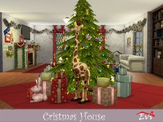 The sims resource: christmas house by evi. Christmas Post, Christmas Tree, Sims 4 Cc Makeup, Sims 4 Cc Skin, Sims Resource, Holiday Decor, House, Wedding, Content