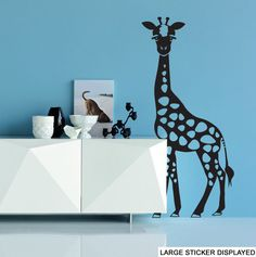 African Giraffe Silhouette Wall Art Vinyl Stickers Safari Transfer Murals Decals   eBay