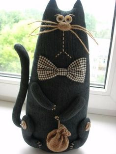 """""""Alternative"""" Necklaces for Our Cats and Dogs Sewing Toys, Sewing Crafts, Sewing Projects, Fabric Toys, Fabric Crafts, Fabric Animals, Cat Quilt, Cat Doll, Cat Crafts"""