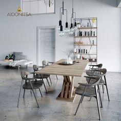 Τραπεζαρία επεκτεινόμενη CITY6227, 160(200)x90x76 Xρώμα Sοnoma. IR-CITY6227 Από την Alphab2b.gr Dining Room, Dining Table, Office Desk, Furniture, Home Decor, Products, Desk Office, Decoration Home, Desk