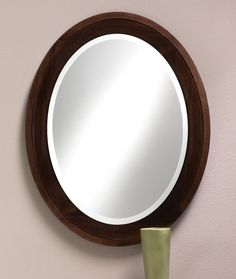703 Oval Mirror Features A Solid Wood Frame With Espresso Finish Hand Rubbed Glaze