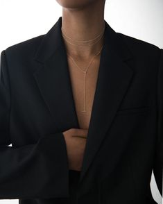 Final Touches Unisex Blazer 1421 Necklace 1917 Necklace 1785 Shop the look Unisex Looks, Fashion Outfits, Womens Fashion, Capsule Wardrobe, Party Wear, Casual Wear, Winter Fashion, Photoshoot, Blazer
