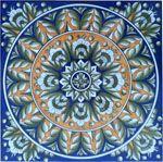 Tile Geocentric Orange Blue
