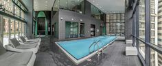 AQUA: 8 Chicago Apartment Towers That Feature Awesome Amenities Chicago Apartment, Cool Apartments, Construction, Indoor, Awesome, Outdoor Decor, Home Decor, Towers, Aqua