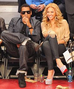 February 20, 2011 Courtside Couple during NBA All-Star game @ Staples Center in LA