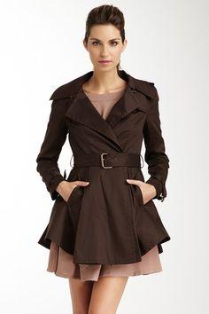 Belted Lightweight Trench Coat @ Haute