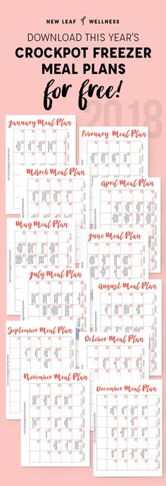 Year's Worth of Crockpot Freezer Meal Plans…for Free! A Year's Worth of Crockpot Freezer Meal Plans.for Free!A Year's Worth of Crockpot Freezer Meal Plans.for Free! Meal Planning Calendar, Family Meal Planning, Budget Meal Planning, Meal Planning Printable, Cooking On A Budget, Meal Planner, Planning Board, Meal Planning Recipes, Meal Calendar