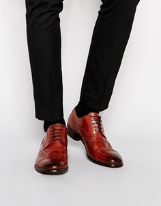 Dune Leather Brogue Shoes