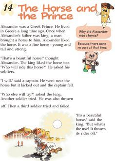 Grade 2 Reading Lesson 14 Myths And Legends The Horse And The Prince Small Stories For Kids, English Stories For Kids, Moral Stories For Kids, English Lessons For Kids, Reading Stories, Reading Passages, Children Stories, English Story, Reading Lessons