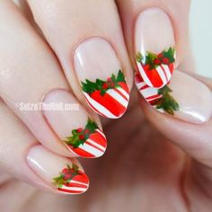 I am unfolding before you easy & simple Christmas nail art designs, ideas & stickers of 2014 these Xmas nails are too adorable. Christmas Nail Art Designs, Holiday Nail Art, Winter Nail Art, Winter Nails, Christmas Manicure, Xmas Nails, New Year's Nails, Gelish Nails, Toe Nails