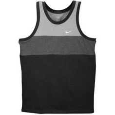 Nike Color Block Tank - Men's - Oatmeal Heather/Soft Yellow/Dk Grey Heather