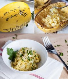 Spaghetti Squash with Garlic and Parmesan | 12 Light And Delicious Veggie Noodle Recipes