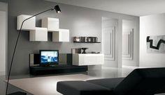 minimalistische Einrichtungsideen für Wohnzimmer-monochrome Farben einsetzen