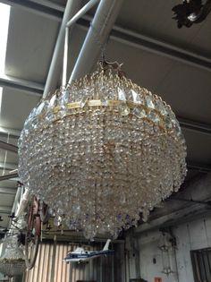 lampadario perline di cristallo