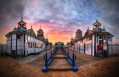Eastbourne pier 'Silent Laughter' by Michael Baldwin Wide Angle Photography, Panoramic Photography, Stunning Photography, Photography Ideas, Brighton Sussex, East Sussex, Beautiful Architecture, Beautiful Places, Beautiful Scenery