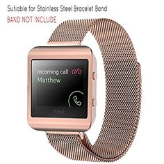 Ztotop Fitbit Blaze Accessory, New Style Frame Housing With Band For Fitbit Blaze Smart Watch(New Rose Gold Frame+Loop)