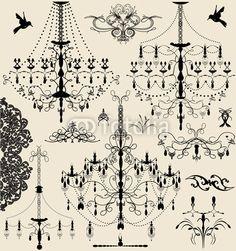 set of vintage vector elements