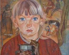 Menina com uma lata de leite - Boris Grigoriev