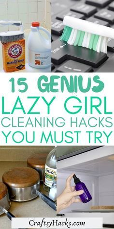 If you absolutely hate cleaning your home these lazy girl cleaning hacks will blow your mind! Try using these genius cleaning hacks on your home to save time and effort to enjoy tidying more! #Cleaning #HomeHacks Homemade Cleaning Supplies, Diy Home Cleaning, Household Cleaning Tips, Cleaning Recipes, House Cleaning Tips, Cleaning Hacks, Natural Cleaning Solutions, Natural Cleaning Products, Cleaners Homemade