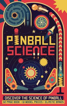 """Check out this @Behance project: """"Owen Davey - Pinball Science Book Cover"""" https://www.behance.net/gallery/30745097/Owen-Davey-Pinball-Science-Book-Cover"""