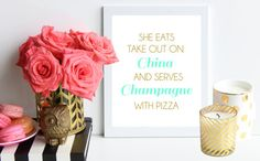Take Out on China and Champagne with Pizza / by TheTrendySparrow