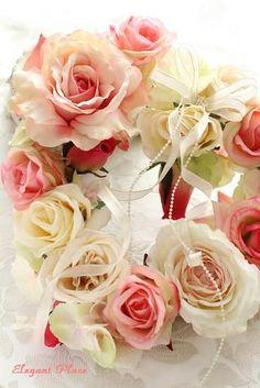 薔薇で作ったハートリース